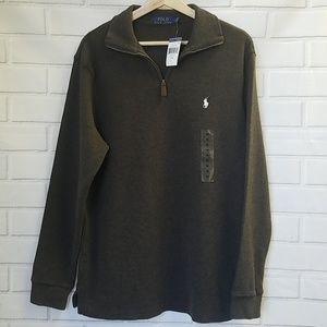 NWT Polo Ralph Lauren Men's M Half Zip Sweater A6D